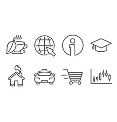 Internet taxi and delivery shopping icons mint vector