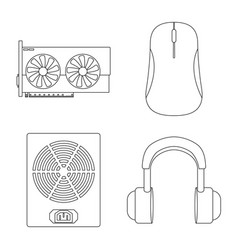 Isolated object pc and component symbol set vector