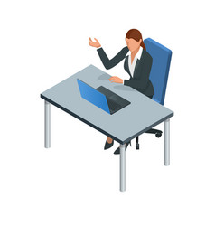 isometric business women stylish isolated on white vector image