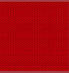 knitted seamless pattern red knit background vector image