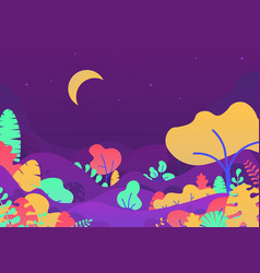 magic forest with trees vector image