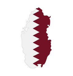 Map qatar - flag vector