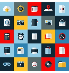 Modern flat icons set universal elements for web vector