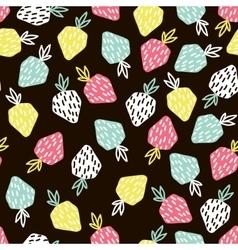 modern fruit seamless pattern background vector image