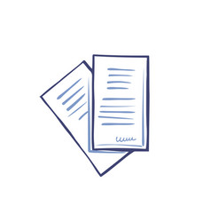Office paper documentation set of icons vector