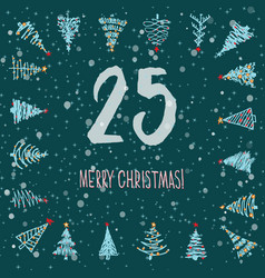 Page advent calendar 25 days of christmas with vector