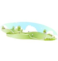Park Landscape background vector image