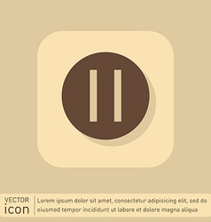 Pause sign web icon on background vector