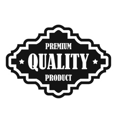 Premium quality product label icon simple style vector
