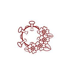Rose flower coronavirus design vector