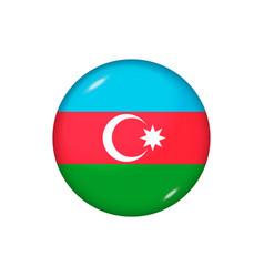 Round flag azerbaijan button vector