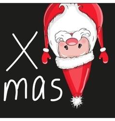 Santa flipped over vector image