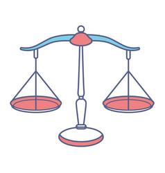 Scale financial icon vector