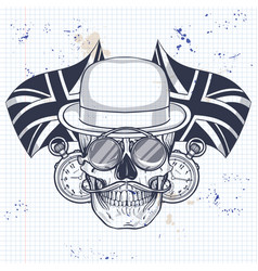 sketch of british skull vector image