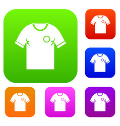 soccer shirt set color collection vector image
