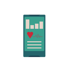 sport and healthcare mobile app concept vector image