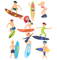 summer sports of active modern young people vector image