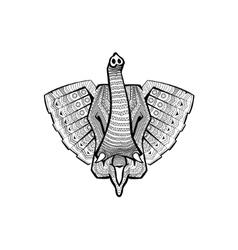 the head an elephant vector image