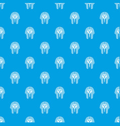 tutankhamen mask pattern seamless blue vector image