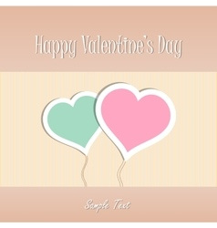 Two Heart shapes background Valentines day vector
