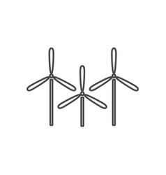 wind energy thin line icon windmills eco energy vector image