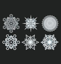 winter snowflakes geometry year vector image