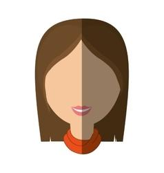 Woman female avatar isolated vector