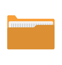 yellow file folder icon on white background vector image