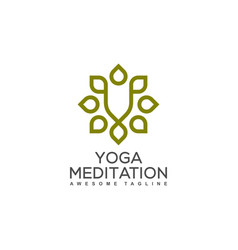 yoga ornament design template vector image