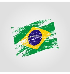 color brazil national flag grunge style eps10 vector image vector image