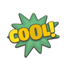 comic boom cool icon flat style vector image