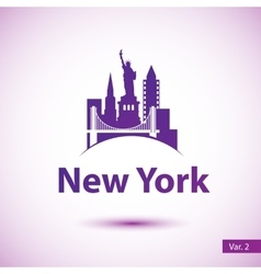 silhouette of of New York vector image