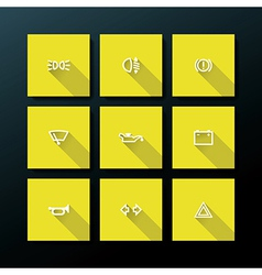 flat car dashboard icon set vector image