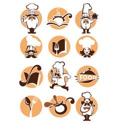 food logo vector image vector image