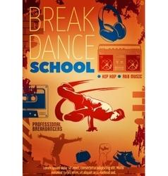 Hip Hop Dance Poster vector image
