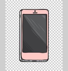 pink glamorous smartphone isolated vector image