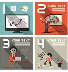 Social Media Infographics UI Flat Design Layout vector image