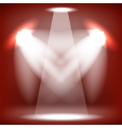 Stage Spotlight Red Background vector image