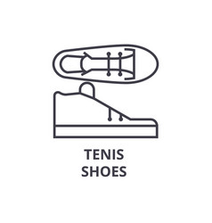 tenis shoes line icon outline sign linear symbol vector image vector image