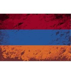 Armenian flag Grunge background vector image vector image