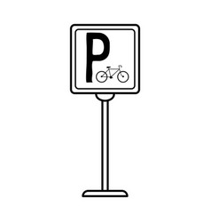 bike or bicycle parking sign icon image vector image vector image