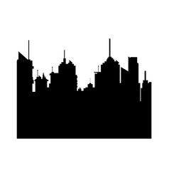 modern city skyline silhouette building horizontal vector image