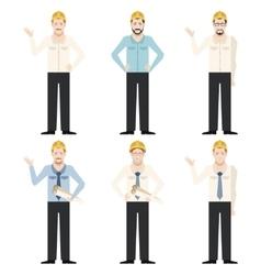 Set of engineer men vector image