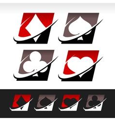 Swoosh Poker Icons vector image vector image
