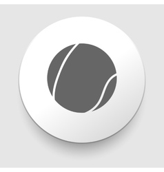 Tennis ball icon vector image