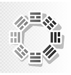 bagua sign new year blackish icon on vector image