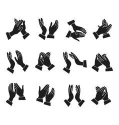 Clapping Hands Icons Set vector image vector image