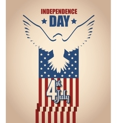 independence of america design vector image