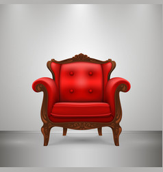 retro chair red vector image vector image