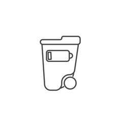 waste separation thin line icon ecology and vector image